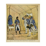 Soldiers of the Army of Italy after Battle of Lodi Make Napoleon their Corporal Giclee Print by Louis Bombled