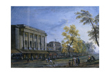 Theatre-Italian in Paris, in Painting by French Jean Baptiste Lallemand, Ca. 1740-1800 Giclee Print by Jean Baptiste Lallemand
