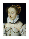 Jeanne D'Albret, Queen of Navarre, Ca. 1555 Giclee Print by Francois Clouet