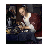 Girl Eating Oysters. Ca. 1658-1660 Giclee Print by Jan Steen
