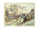 Siege of Lille During the War of Devolution in 1667 Giclee Print by Paul Dufresne