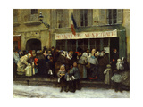 Franco-Prussian War. Soup Kitchen During the Siege of Paris, 1870 Giclee Print by Henri Pille