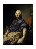 Joseph Marie Terray, Abbot of Molesmes, Minister. 1774 Giclee Print by Alexandre Roslin