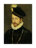 Portrait of Charles IX, King of France. Ca. 1570 Giclee Print by Francois Clouet