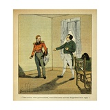 Exiled Napoleon Accuses British Gov. Hudson Lowe's of Behavior Against Him Giclee Print by Louis Bombled