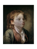 Portrait of a Young Boy. Ca. 1750-90 Giclee Print by Jean Baptiste Greuze