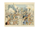 Entry of Joan of Arc into Orleans on April 29, 1429 Giclee Print by Paul de Semant