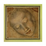 Head of a Woman, Downcast Eyes, 16th C Giclee Print by Federico Baroccio
