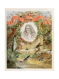 Frontispiece of 'Selected Fontaine's Fables', 1892 Giclee Print by Jules David