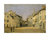 Rue De La Chaussee at Argenteuil, 1872 Giclee Print by Alfred Sisley