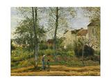 Houses at Bougival (Autumn), 1870 Reproduction procédé giclée par Camille Pissarro
