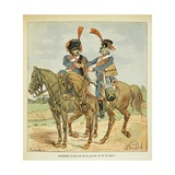 Napoleonic Wars, Horse Artillery of the Guard and the Line Giclee Print by Louis Bombled