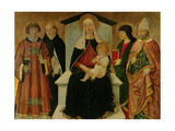 Madonna and Child with Saints Giclee Print by Pier Francesco Fiorentino