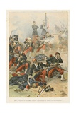 Protecting the Flag During Battle of Saint Privat, 1870, 'Au Drapeau' Giclee Print by Julien Le Blant