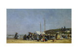 The Beach at Trouville Giclee Print by Eugene Louis Boudin