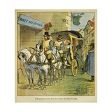 Emperor Napoleon Gets in the Coach to Meet His New Wife Marie Louise, 1810 Giclee Print by Louis Bombled