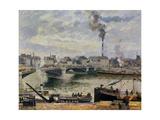 The Great Bridge, Rouen, 1896 Reproduction procédé giclée par Camille Pissarro