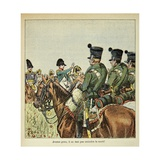 Napoleon Harangues the Troops During His Napoleonic Wars Giclee Print by Louis Bombled