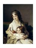 Madame Boyer Fonfrede and Her Son Henri, 1796 Giclée-Druck von Francois Andre Vincent