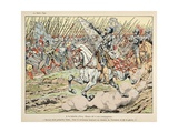 Henry IV Leads His Army, 'Follow My White Plume' Giclee Print by Jacques de Breville