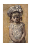 A Little Girl or the Lace Dress Giclee Print by Mary Cassatt