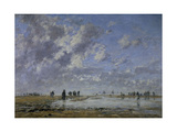 Low Tide at Etaples Giclee Print by Eugene Louis Boudin