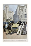 Coignet Escorts Duchess of Angouleme, Auxerre, 'Captain Coignet's Books' Giclee Print by Julien Le Blant