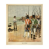 Napoleonic Wars, Death of Joachim Murat, Brother-In-Law of Napoleon Giclee Print by Louis Bombled