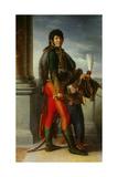 Portrait of Joachim Murat in Hussars Uniform Giclee Print by Francois Gerard