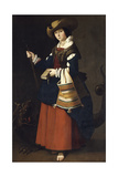 Saint Margaret of Antioch. 1630-1634 Giclee Print by Francisco de Zurbaran
