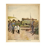 Emperor Napoleon Visiting the Fortifications of Ile D'Aix after His Abdication Giclee Print by Louis Bombled