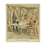 Brit. Gov. Hudson Lowe Questioning Count of Las Cases on St. Helena Giclee Print by Louis Bombled