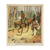 Napoleonic Wars, General Hengel, Hussar Officer During the Italian Campaign Giclee Print by Louis Bombled