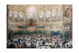 State Dinner for Queen Victoria by Napoleon III at Versailles in 1855 Giclee Print by Eugene Louis Lami