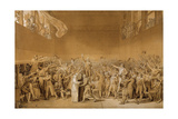 Study for the Tennis Court Oath, June 20, 1789 Giclee Print by Jacques Louis David