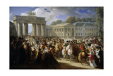 Napoleon Enters Berlin, at Brandenburg Gate, Oct. 27, 1806 Giclee Print by Charles Meynier