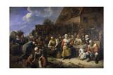 The Village Banquet, Ca. 1650-75 Giclée-Druck von Gillis Van Tilborch