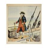 Pierre Andre De Suffren known as Le Bailli De Suffren, Vice Admiral Giclee Print by Louis Bombled