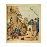 Napoleon Witnessed the Taking of a Shark on Board the Northumberland, 1815 Giclee Print by Louis Bombled