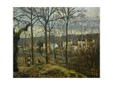Winter Landscape in Louveciennes, 1870 Reproduction procédé giclée par Camille Pissarro