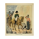 Exiled Emperor Napoleon I Riding a Horse on Saint Helena Giclee Print by Louis Bombled