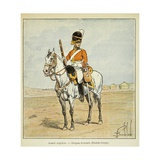Napoleonic Wars, British Army: Scottish Dragoon (Royal Scots Greys) Giclee Print by Louis Bombled