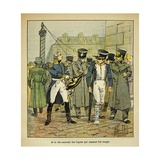 Former Officer of Napoleon Asks Ex-Conscripts to Accept the Bourbon Restoration Giclee Print by Louis Bombled