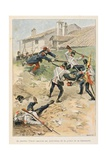 Capture of the Austrian Flag at Battle of Solferino, 1855, 'Au Drapeau' Giclee Print by Julien Le Blant