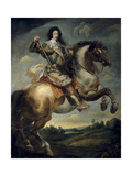 Equestrian Portrait of King Louis XIII of France Giclee Print by Claude Deruet