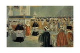 The Coronation of Napoleon Giclee Print by Jacques de Breville