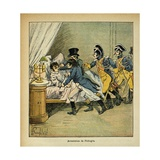 Napoleonic Wars, Arrest of Anti-Napoleon Conspirator Pichegru on Feb. 28, 1804 Giclee Print by Louis Bombled