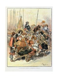 The Wounded Governor, 'Le Capitaine Bellormeau' Giclee Print by Albert Robida