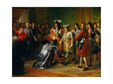 Recognition of Duke of Anjou as Philip V, King of Spain, Nov. 16, 1700 Giclee Print by Francois Gerard
