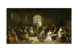 Call for the Last Victims of the Terror in Prison of Saint-Lazare, July 1794 Giclee Print by Charles Louis Muller